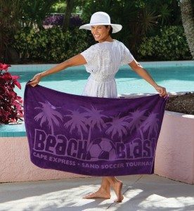 Lightweight Purple Beach Towel