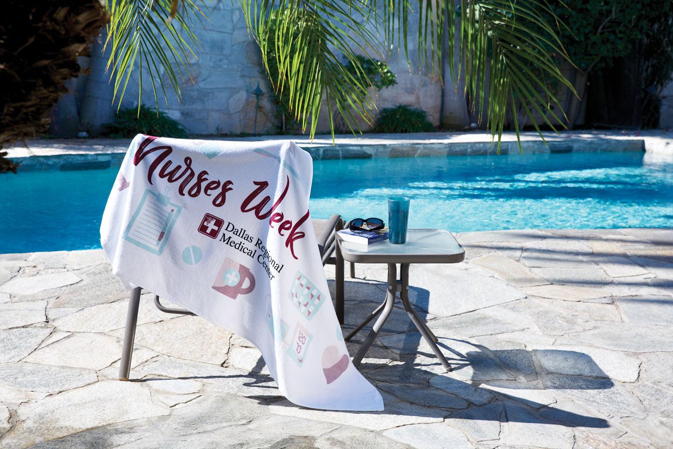 White Beach Towels