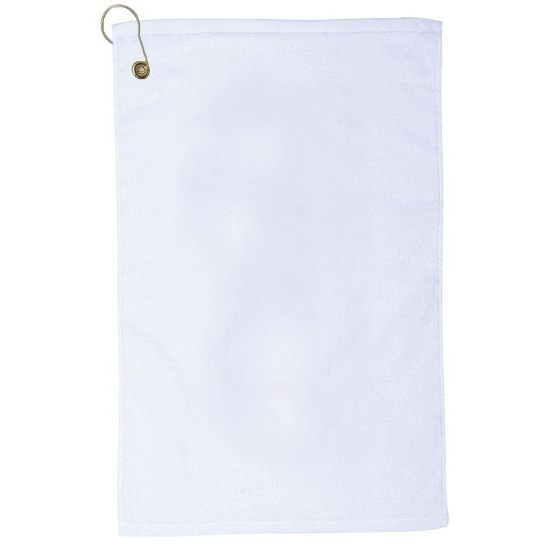 Blank Towel: Jewel Collection Golf Towel With Corner Grommet