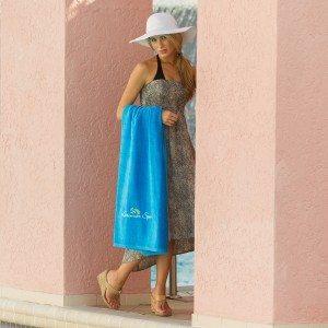 Coastal Blue Turkish Beach Towel