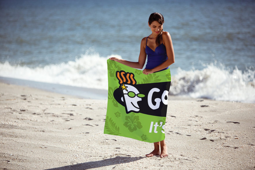 Custom Fiber Reactive Beach Towel