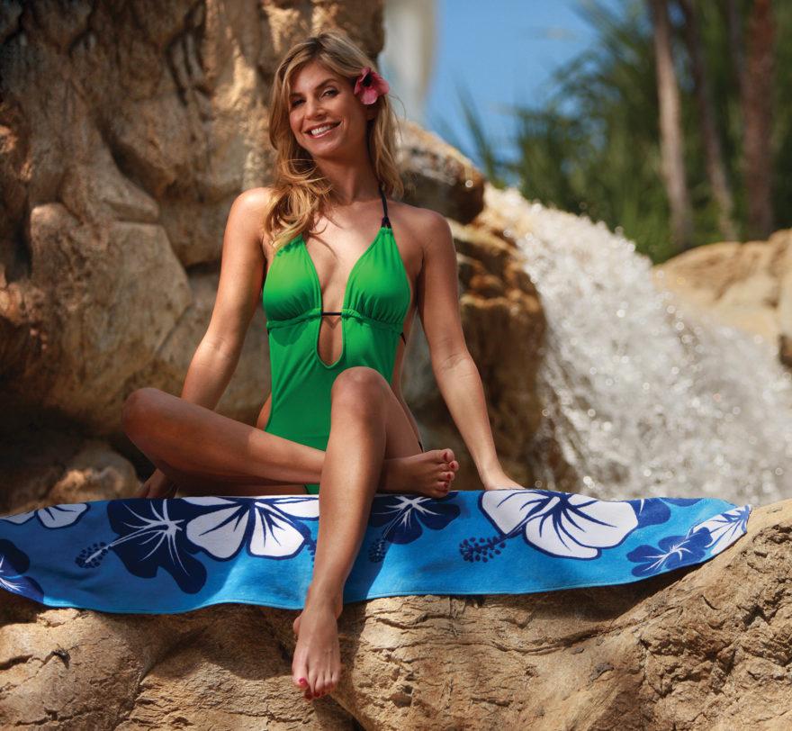 Blue Hibiscus Beach Towel