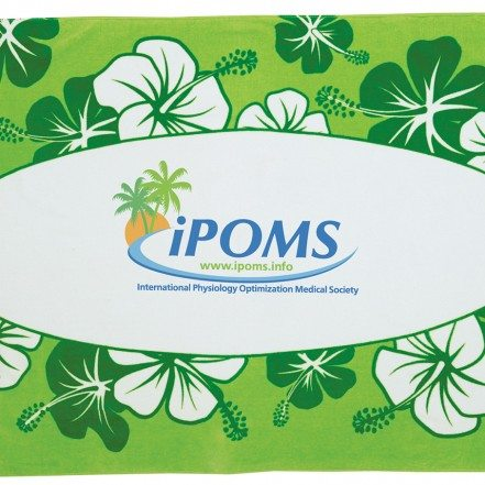 Green Hibiscus Beach Towel