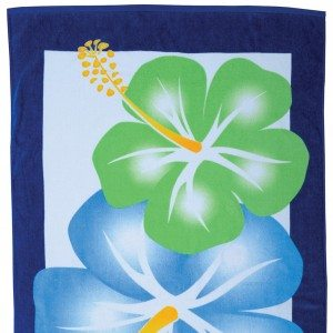 Large Hibiscus Beach Towel