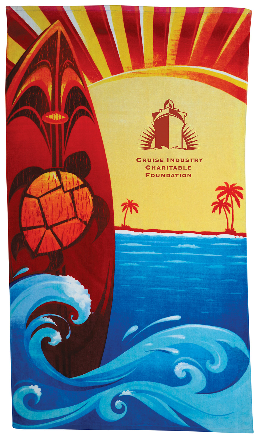 Design By: Surfboard Stock Design Beach Towel