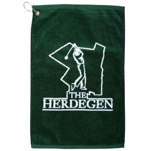 Quick Ship Custom Jacquard Woven Golf Towel