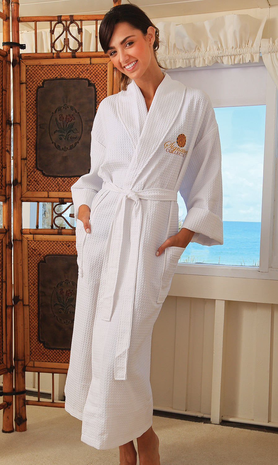 3c18181b16 Seville Collection Waffle Weave Robe