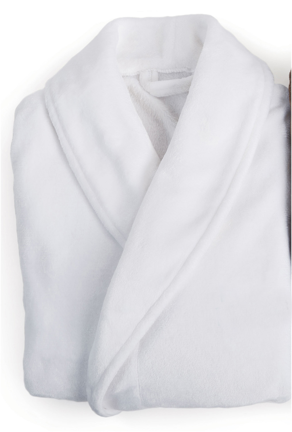 Plush Lounge Robe - White (3)