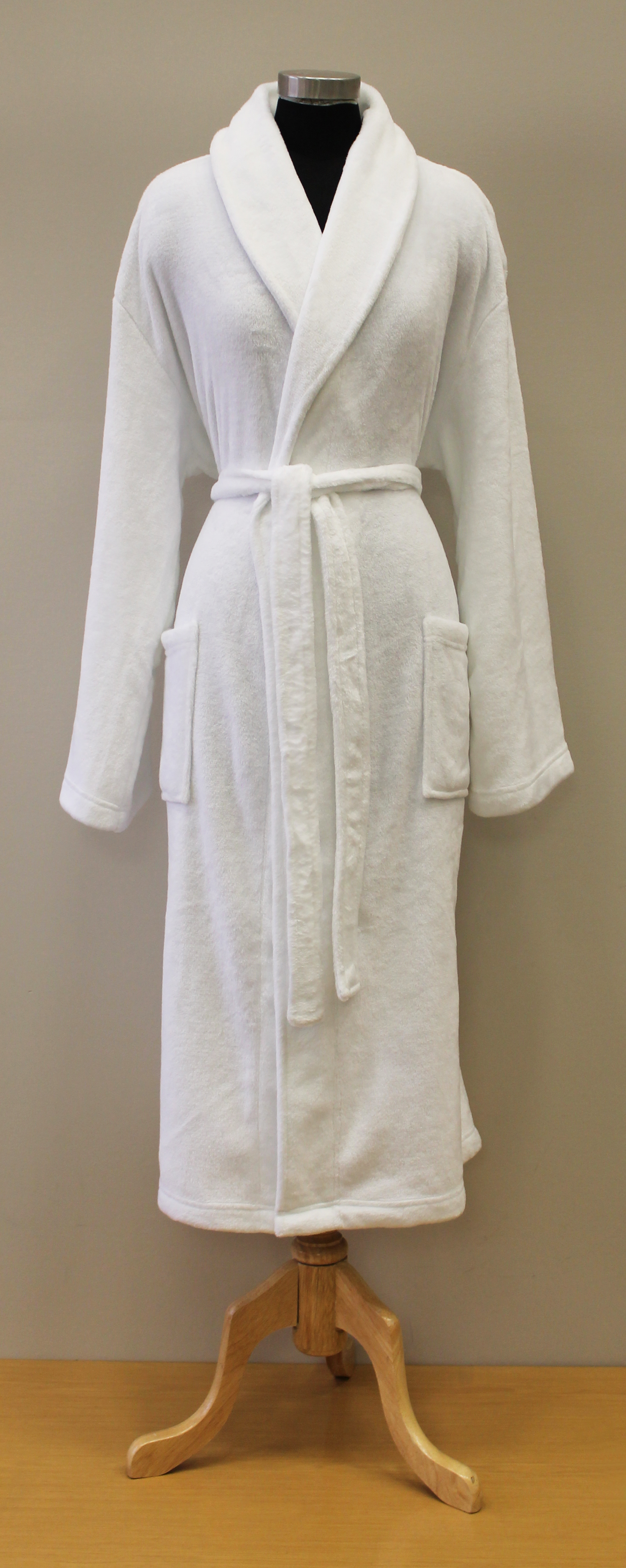 Plush Lounge Robe - White