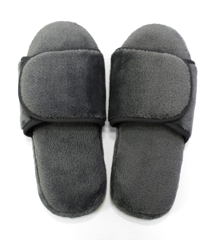 Plush Lounge Slippers _Silver_Gray