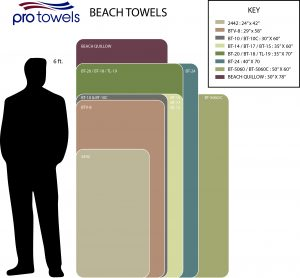 Beach Towel size chart