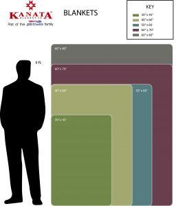 Blanket Towel size chart