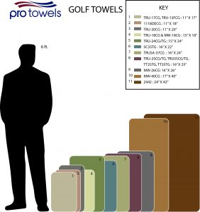 Golf Towel size chart