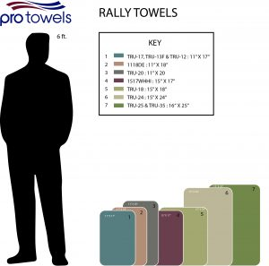 Rally Towel size chart