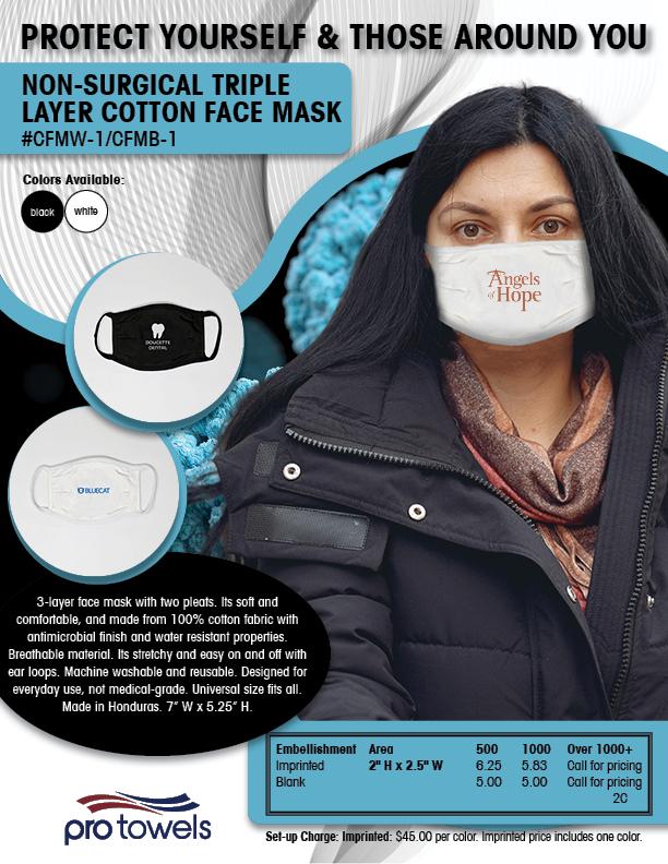 Cotton Face Mask Flyer-Branded